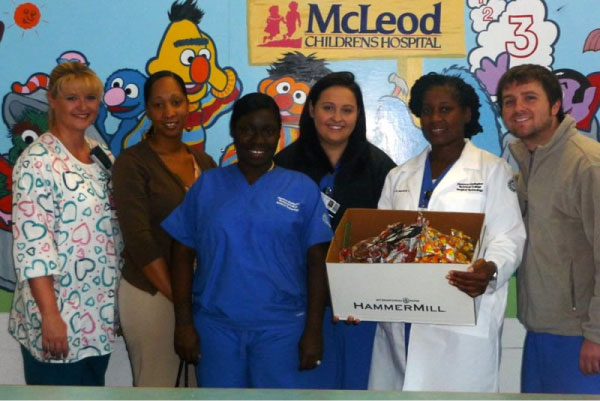 Surgical Technology Students Give Away Halloween Candy at Local Hospitals