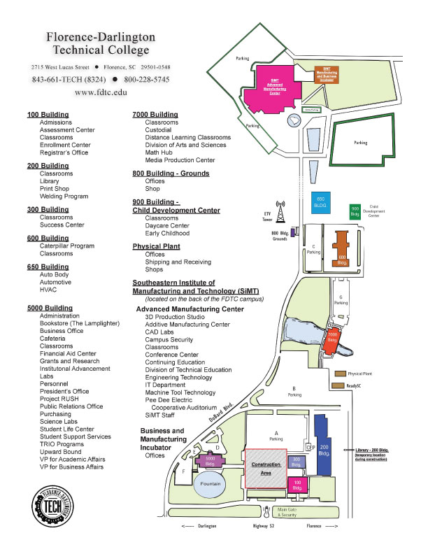 Fdtc Main Campus Printable Map