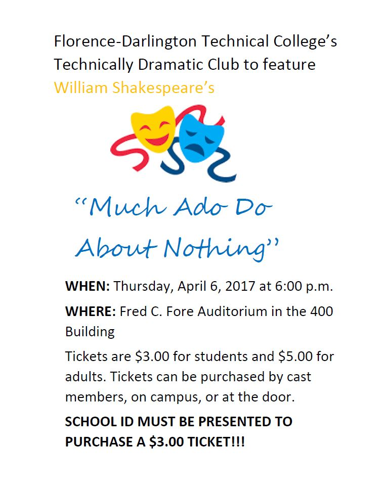Fdtc Marketing Dramatic Club To Perform Much Ado About Nothing